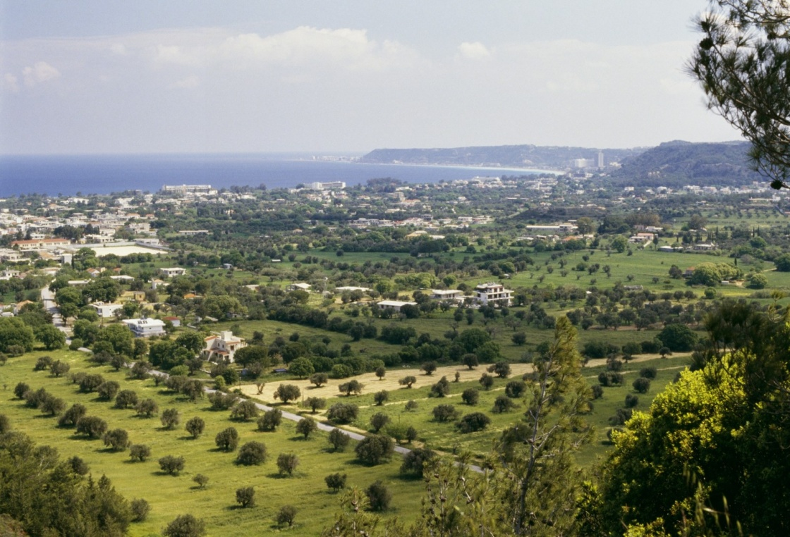 'View of Trianta, Filerimos, Rhodes, Greece' - Rodos